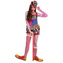Payaso Traje - Freaky Ladies Completa Vestido De Lujo Colori