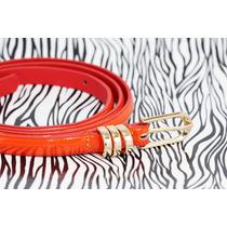Cinturón Dama Broche Dorado Anaranjado Cu26