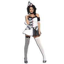 Harlequin Traje - Señoras Bufón De Disfraces De Halloween -