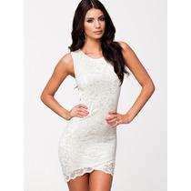 Vestido Corto Con Costas En El Ingreso (blanco)
