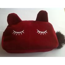 Lote De 2 Lindas Cosmetiqueras O Estuchera De Tela-gato-moda