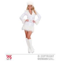 Traje Ruso - Blanco (s) (vestido De Sombrero De La Correa) V