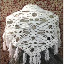 Chalina De Calaveras Crochet Döskallesjal