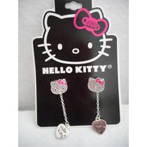 Aretes Cara Brillante Hello Kitty Sanrio! Regalo
