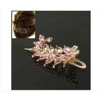 Clip De Diamantes De Imitación En Forma De Lámina - Rose