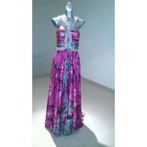 Vestido Con Piedra Swaroski Original Bordado A Mano