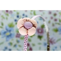 Diadema Flor Color Durazno Y Rosa Dia02