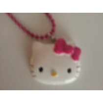 Collar De Hermosa Cara De Hello Kitty Sanrio! Importado