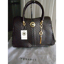 Bolsa Versace Chocolate Doble Aza