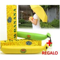 Sombrilla Paraguas Diseño De Plátano Marca ¡¡ + Regalo !!!