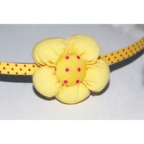 Diadema Flor Amarillo Dia12