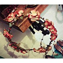 Set De Corona Vintage Gypset Con Cuarzos Y Aretes De Flores