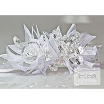 Tocado De Novia Con Cristales Color Blanco - Special Moments