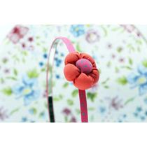 Diadema Flor Rojo Y Rosa Dia09