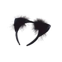 Disfraz Gato Negro - Vinilo Marabú Recorte Orejas Vestido D