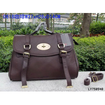Bolsa Mulberry Color Cafe Obscuro Piel
