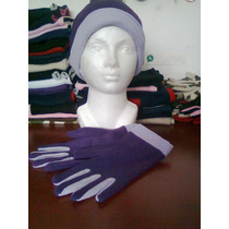 Bufanda-gorro-pechera Doble Vista + Guantes T/colores Vbf