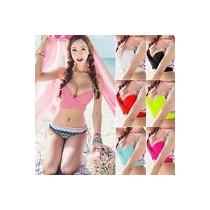 Bikini Cruzado Neon Traje De Baño Push Up