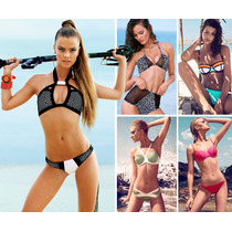5 Bikinis Para Dama, Trajes De Baño, Neopreno Vintage Pin Up
