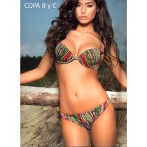 Traje De Baño Bikini Italiano En Copa B Y Copa C Mf16