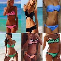 Bikinis, Trajes De Baño, Monobikinis, Neopreno Tipo Triangul
