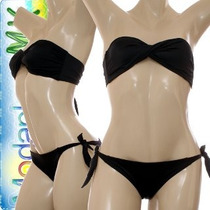 Bikini Traje De Baño Strapless Bandeau