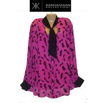 Blusa Top Xxl 2x Grande Rosa Kardashian Collection 20w Bella