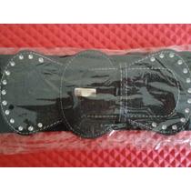 Cinturon Negro C/ Pedreria Para Dama Ajustable Casual