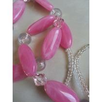 Collar Fantasia Rosa + Cinturon Rosa !!