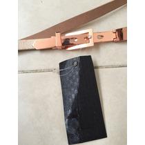 Cinto Cinturon Studio F Dorado Rosa Brillante Xs-s Ocre