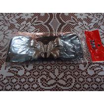 Cinturon Negro Con Hebilla De Moño C/pedreria Para Dama