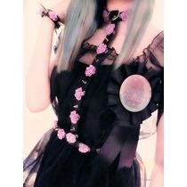 Accesorio De Piel Harnes Gotico Lolita Kawai