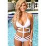 Monokini Blanco Talla Grande Bikini Traje De Baño Dama Playa