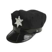 Gorra Cachucha Policia Negra Wet Seal Padrisima Super Sexy!!