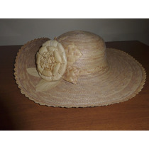 Sombrero De Mujer Casual Material Paja