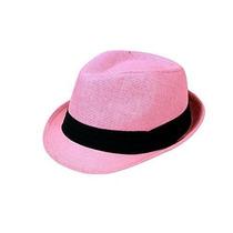 Gorra Fedora Fresca Paja Sencillez Verano Sombrero Colorido