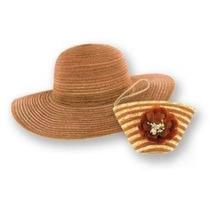 Gorra Ctm® Womens 2-en-1 Plegable Sombrero De Sol Y Floreci