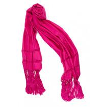Rebozo Fino Estilo Tipico Color Rosa Mexicano Pashmina