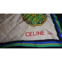 Mascada Pañoleta Scarf Celine Paris Seda Herms A Italiana Gc