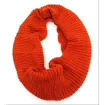 Bufanda Plumas Ciruelo Invierno Tone Premium Knit Infinity