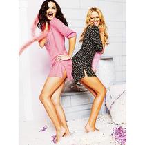 Victoria Secret Camison Algodon Rays Estrella Lila Talla S