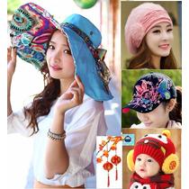 Moda Japonesa Gorros Sombrero Playa Mujer Hombre Niño Unisex