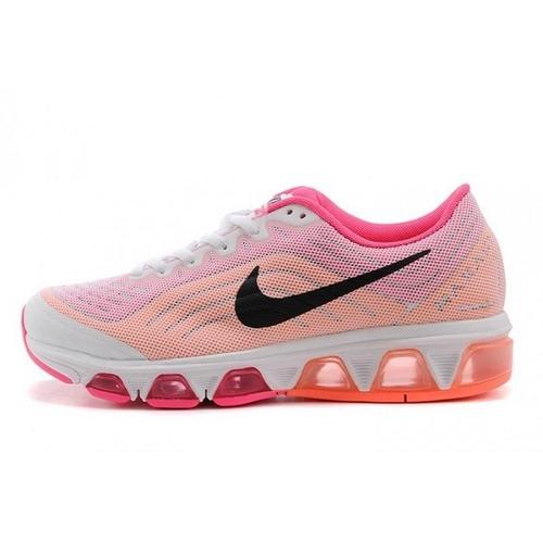 Mujer tenis nike air max tailwind 6 blanco rosa naranja hm4