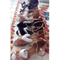 Zapato Mujer Bailar Ritmos Latinos, 22cm,color Bronce,$1300