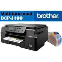 Multifuncional Brother Dcp J100 C/ Sistema De Tinta Continua