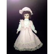 Muñeca De Porcelana Con Vestido Español