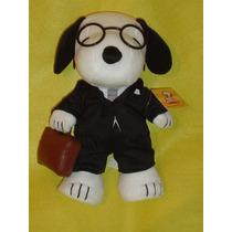 Snoopy Original Abogado Con Su Portafolio Lentes Y Traje