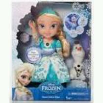 Hermosa Muñeca Elsa Frozen Con Luz Y Sonidos