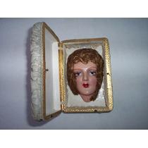 Antigua Cara De Muñeca Del Año 1920 En Su Estuche Unica
