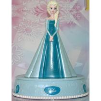 Elsa De Frozen Alcancia Con Luz Y Cancion Let It Go